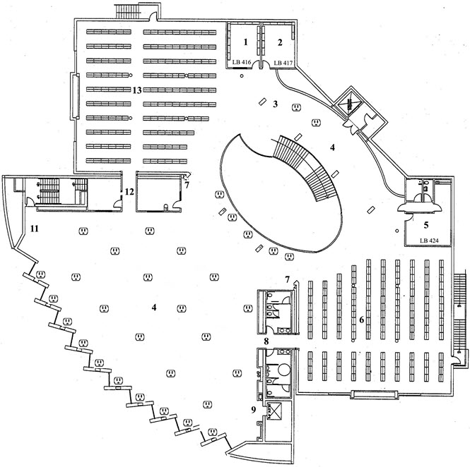 Glendale college library map and floor plans for Floor plans lafayette college